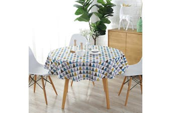 150cm Round Colorful Table Cloth Cotton Linen Household Garden Dining(multicolor)(C(Not Include Table))