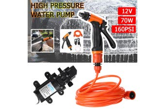 High Pressure Water Pump Tools Car Washer Portable 12V Electric Self-Priming Kit