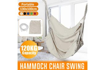 Portable Hanging Hammock Chair Swing Thicken Porch Seat Garden Outdoor Camping Patio Travel(red)(01 Red Without Pillow)