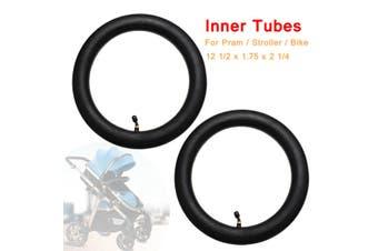 2Pcs Inner Tube Bent Valve For Hota Pram Stroller Kid Bike 12 1/2 x 1.75 x 2 1/4(2x)