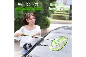 Car Wash Mop Special Brush Car Brush Soft Fur Cleaning Car Wiper Tool Car Wash Body Duster Retractable Car Cleaning Tool Mops Dusters(green)