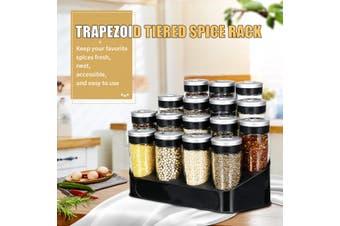 Spice Storage Rack Stand Holder +16 Bottles Kitchen Seasoning Organizer Shelf US