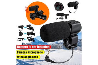 3.5mm External Stereo Microphone MIC For Canon DSLR Camera DV Camcorder Small microphone / large microphone / wide-angle lens(Small Microphone)
