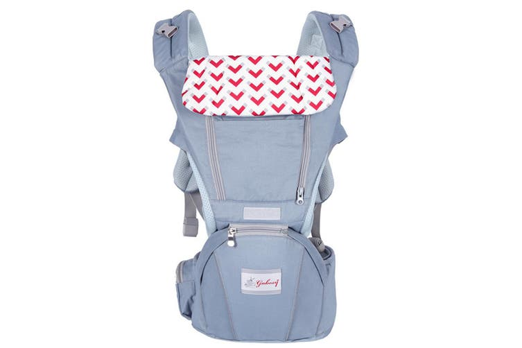 Baby Carrier Waist Stool Multifunction Infant Front Carrier(grey)(Grey)