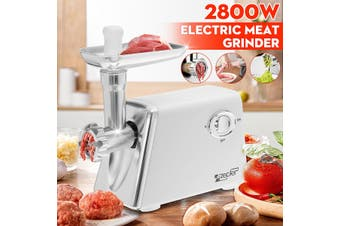 2800W Stainless Steel Mincer Electric Meat Grinder Maker Sausage Filler Meat Fish Mincing Machine Home Machine(AU Plug)