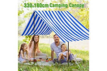 Waterproof 210D Oxford Cloth 330x180cm Portable Beach Tent Sun Shade Shelter Canopy Outdoor Picnic Camping