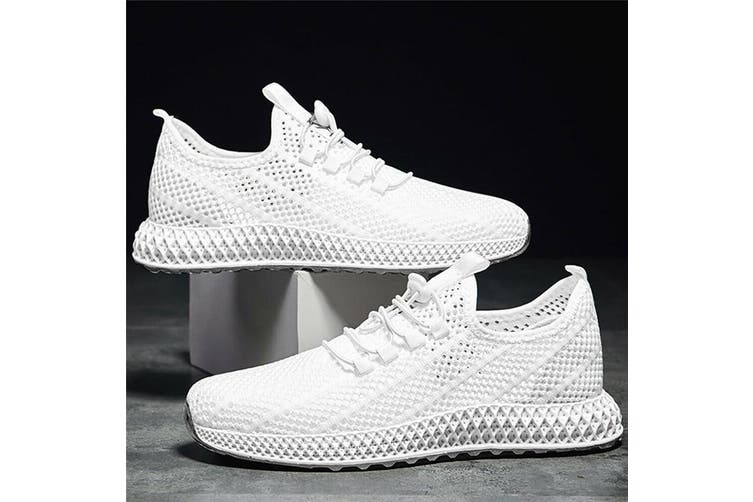 Men's Casual Sneakers Lightweight Gym Tennis Shoes Sport Athletic Road Running(white)(US8/EU41)