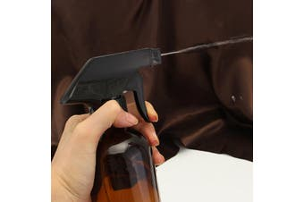2/1Pcs 250/500ML Amber Glass Spray Bottles Sprayer Trigger Atomizer For Essential Oils Refillable Container Leakproof(amber)(250ml Type A)