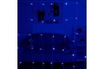 LED LIGHTS Backdrop Wedding Party PhotoBooth Decorations(blue)(EU Plug)