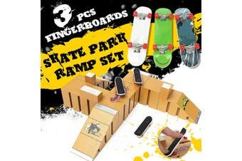 Skate Park Ramp Parts for Fingerboard Finger Board Parks Amateur Kids Childrens Birthday Gift Toy 92C