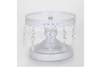 White Round Cake Stand Pedestal Dessert Display Holder Wedding Party Decor(30 cm)