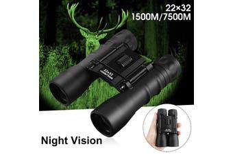 22x32 Day/ Night Military Army Zoom Optics Hunting Camping Powerful Binoculars Adjustable Eye Widths(Type A)