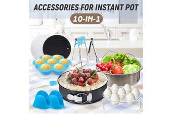 10Pcs Accessories Non-stick Springform Pan Brush Steam Egg Cake For Instant Pot(10Pcs Set)