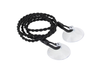 Double Stranded Rope Portable Travel Elastic Clothesline Adjustable To 2.5 Meters W/ Suction-Cup Outdoor Cloth Drying Washing Hanger Rope Line Cord Camping(black)