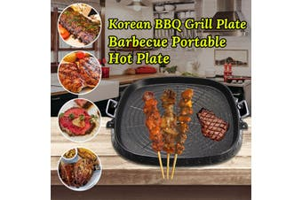 Portable Korean BBQ Grill Plate Barbecue Portable Hot Plate For Outdoor Camping