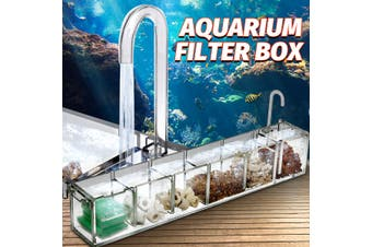 New 2/3/4/5/6 Grids Acrylic Aquarium Fish Tank External Oxygen Filter Boxes Supplies DIY Tools(6Grids)