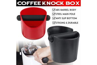 Coffee Knock Box Espresso Grinds Tamper Bin Waste Container Holder Red