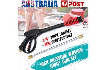 4000PSI M22 High Pressure Washer Cleaner Spray Gun + Extension Wand Lance Set