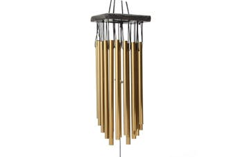 Wind Chimes Windchime 16 Tubes Church Outdoor Garden Home Decor Christmas(gold)(16tubes metal)