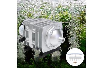 45L/min 25W Electromagnetic Air Compressor Aquarium Oxygen Pond Air Pump Aerator(silver)(25W 45L/min)