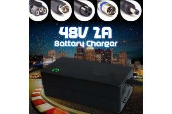 48V 2A Lithium Battery Charger Electric Motorcycle Electric Bike Li-ion Battery(Plug D)