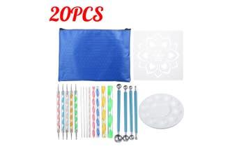 36/33/28/20/16/13/10Pcs Mandala Dotting Tools Set Rock Painting Kit Nail Art Pen Paint Stencil(33Pcs)