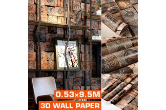 Wallp Aper Living Room Sticker Brown Wall Stickers & Decals Self Adhesive 53X100cm(plain version)