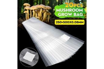20Pcs Mushroom Grain Grow Bags Fill w/Spawn Media Grow High temp Pre Sealable(20Pcs)
