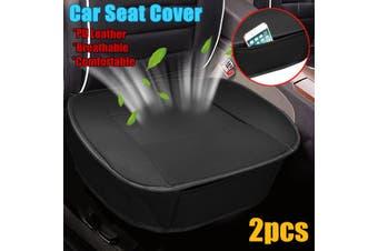2x Car Seat Cover Chair Full Surround Cushion Pad Mat W/Storage Bag Comfortable(black)(2pcs NO.A)