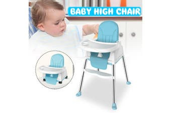 Baby Chairs Folding Multifunctional Light Portable Children Baby Chairs Kids Dining Table Seats(blue)