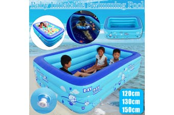 120/130/150cm Baby Swimming Pool Inflatable Kids Pool Bathing Tub Outdoor Indoor(59inch(1.5 m))