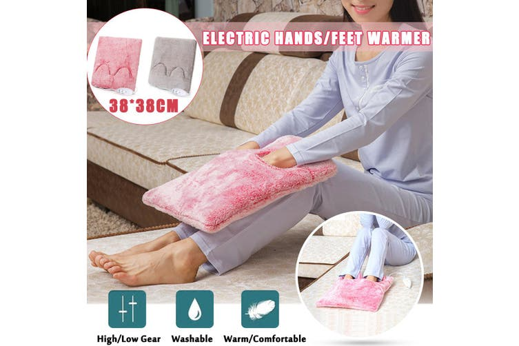 Electric Washable Flannel Foot Feet Hand Body Warmer Mat Heating Pad Cushion(rosered)