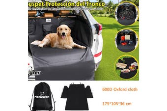 Waterproof Dog Car Boot Liner Cover for Cat Pet SUV Door Van Back Rear Side Protection 175*105*36 CM Universal for Car SUV Truck(black)