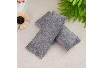 100g Activated Bamboo Charcoal Deodorizer Natural Air Purifier Bag Odor Remover # Grey(grey)(2Pcs/Set)