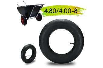 4.80/4.00-8 Inner Tube For Pneumatic Wheel Trolley Wheel 10'' Straight Valve Air(1x Inner Tire)