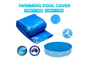 ( No pool Included) Round Swimming Pool Cover Roller Fit 10/12 feet Diameter Family Garden Pool(3.05 m)