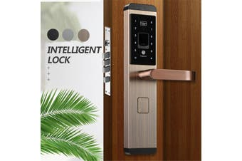 100 Groups Fingerprint Smart Door Lock Digital Password Touch Keyless 5 Way(rosegold)(rosegold)