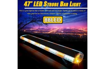"""47"""" 88 LED Strobe Light Bar Amber White Emergency Beacon Warn Tow Truck Response"""