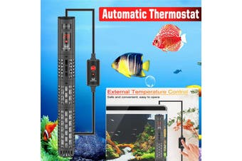 300W 27.5cm Digital 18-34℃ Display Submersible Fish Tank Aquarium Water Heater Automatic Thermostat Heating Rod Tropical with Thermometer ,Suction Cup(300W)