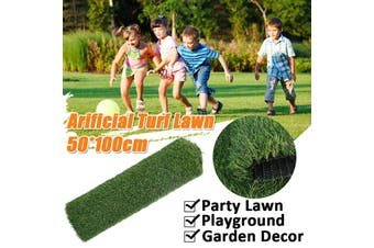50x100cm Artificial Grass Lawn Garden Dollhouse Plastic Lawn Turf Astro Green Synthetic Outdoor Decorations(秋草0.5m*1m*3cm)