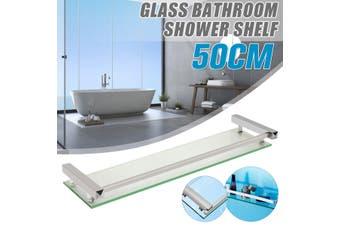 Bathroom Shelving Bath Glass Rack Shower Caddy Shelf Holder Wall Mounted(50 cm)