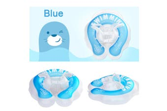 Baby Float Swimming Ring Double Bucket Kids Inflatable Swim Tube Trainer Pool 6-Airbag for 1-4 Years Old Baby Double-layered(blue)