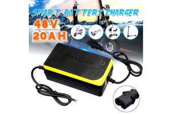48V 20AH Lead Acid Battery Charger Yellow For Electric Bicycle Bike Motorcycle