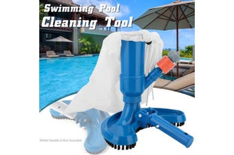 Portable Swimming Pool Cleaning Tool Pond Fountain Vacuum Cleaner Cleaning Tool Home Pool Accessories(blue)(Brush Head(5 in 1))