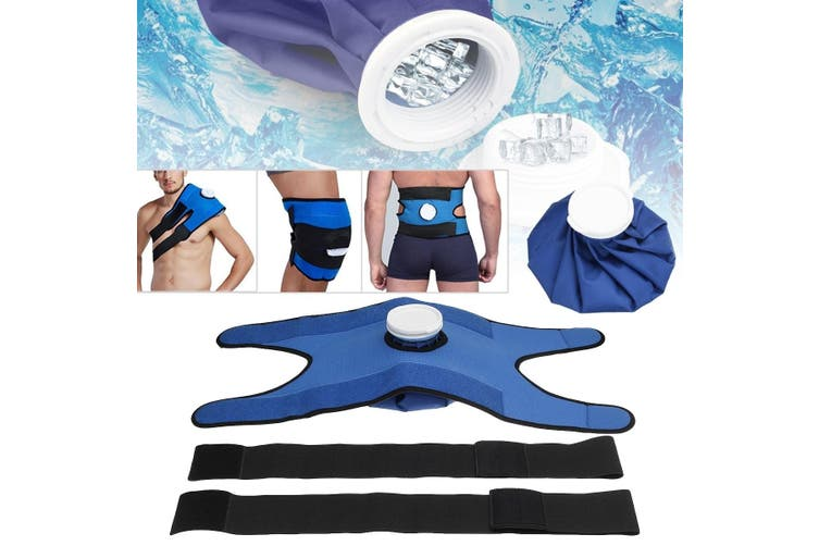 4 in 1 Reusable Hot Cold Therapy Pain Relief Ice Bag Pack Wrap for Knee Shoulder Back(bronze)