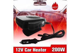 200W 12V Auto Car Heater Heating Fan Dryer Windshield Defroster Demister Defog