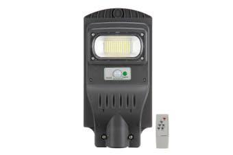 Solar Powered Street Light 117LED Waterproof IP65 PIR Motion Sensor ,Remote Control ,Light Control Wall Lamp, Outdoor Gutter Patio Garden(grey)(117LED)