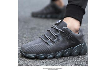 US Men Running Walking Sport Shoes Outdoor Athletic Casual Skatebaord(grey)(EU40/US7.5)