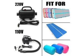 Air Tumbling Track Gym Pump for Sports Protective Inflatable Gymnastics Mats Black(220V Pump)