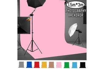 Free Shipping + Flash Deal 3m*1.5m Photography Studio Video Muslin Backdrop Photo Background Stand Drop(pink)(3 m)